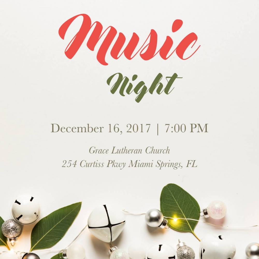 Music Night Flyer 2017